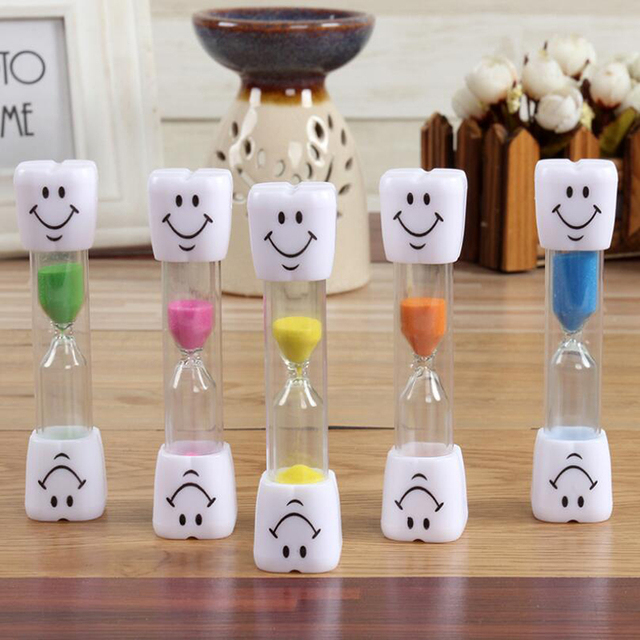 Sand Clock 3 Minutes Smiling Face The Hourglass Decorative Household Items Kids Toothbrush Timer Sand Clock Gifts Home Decor