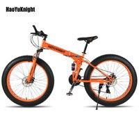 2018new складной велосипед 26*4,0 шины 24 скоростной велосипед Снег велосипед 17,5 Дюймов стальная рама велосипедная велосипед Бесплатная доставка ...