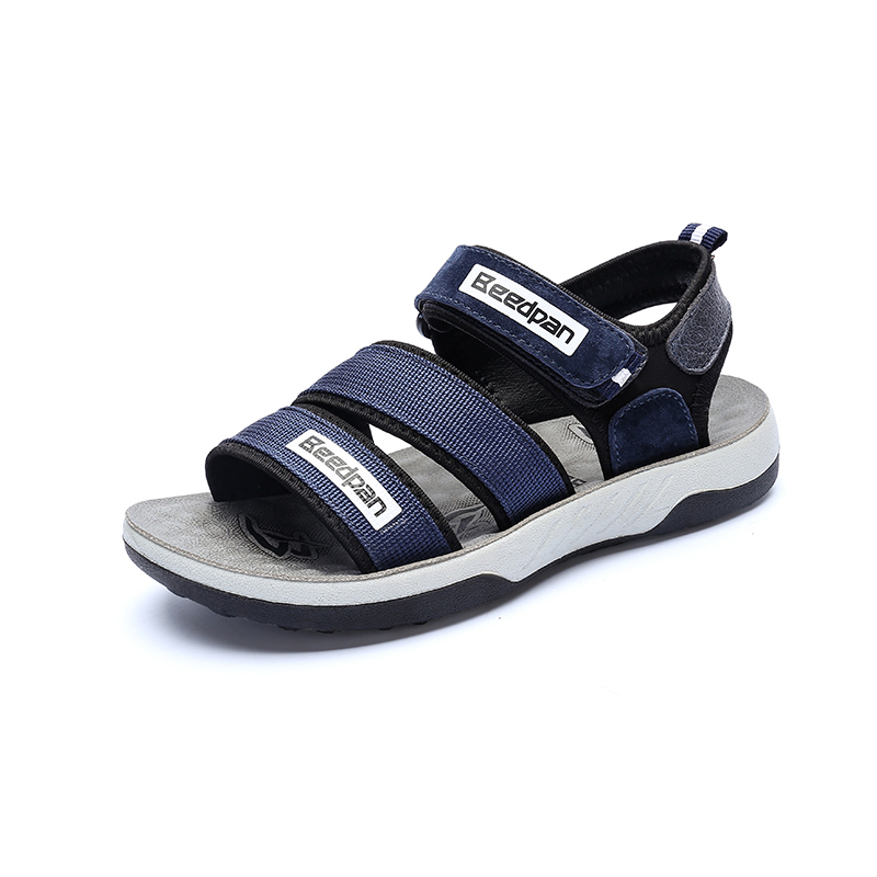 Kids Sandals Boys Summer Childrens Shoes For Boys Anti-slippery Toddler Shoes Fashion Hook & Loop Baby Shoes Leather Boys Shoes