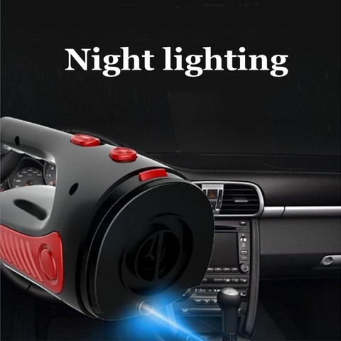 Cordless Car Vacuum Cleaner with LED Light 12V 120W Mini Auto Home Dual-Use Cleaner Wet / Dry Auto Portable Handheld Aspirador Multan