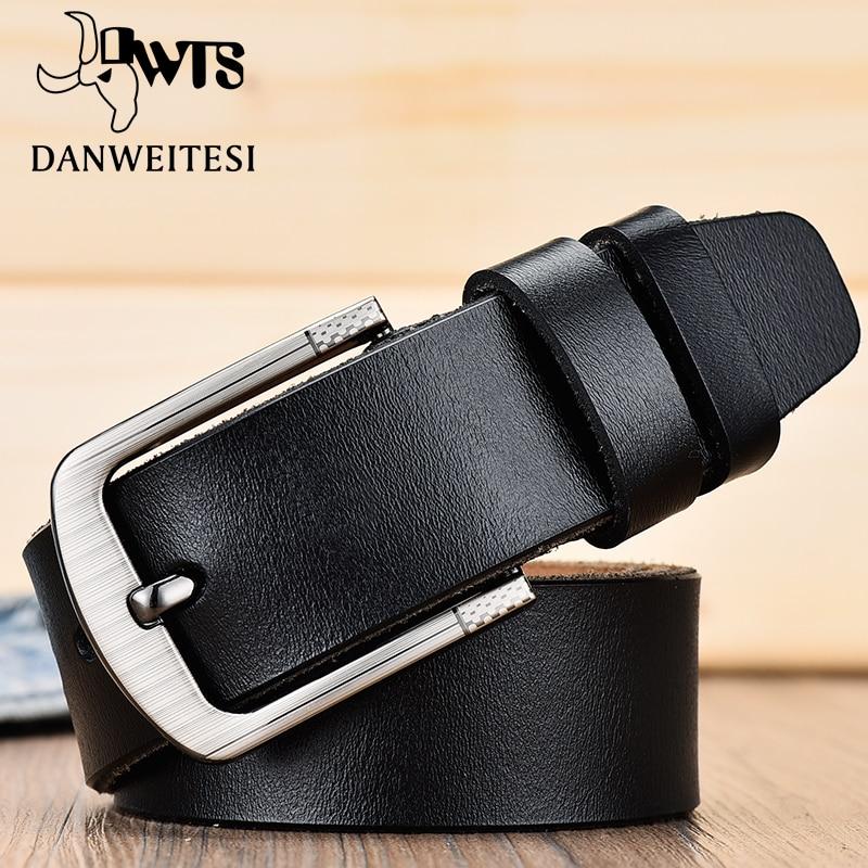 DWTS belt male fashion leather belt men male genuine leather strap luxury pin buckle men 39 s belt Cummerbunds ceinture homme in Men 39 s Belts from Apparel Accessories