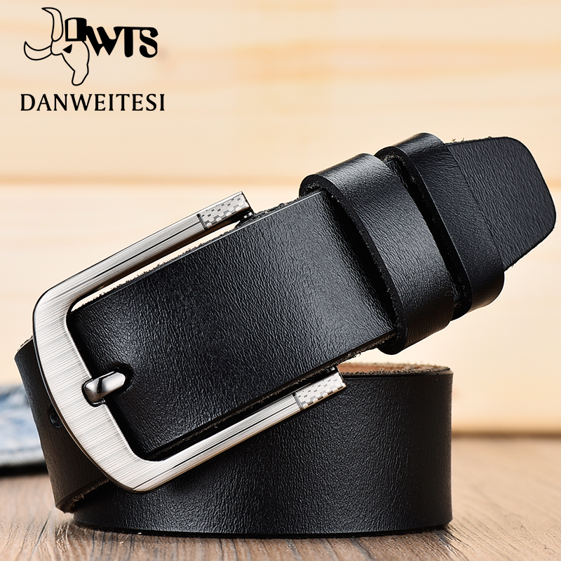 [DWTS] belt male fashion leather belt men male genuine leather strap luxury pin buckle men's belt Cummerbunds ceinture homme