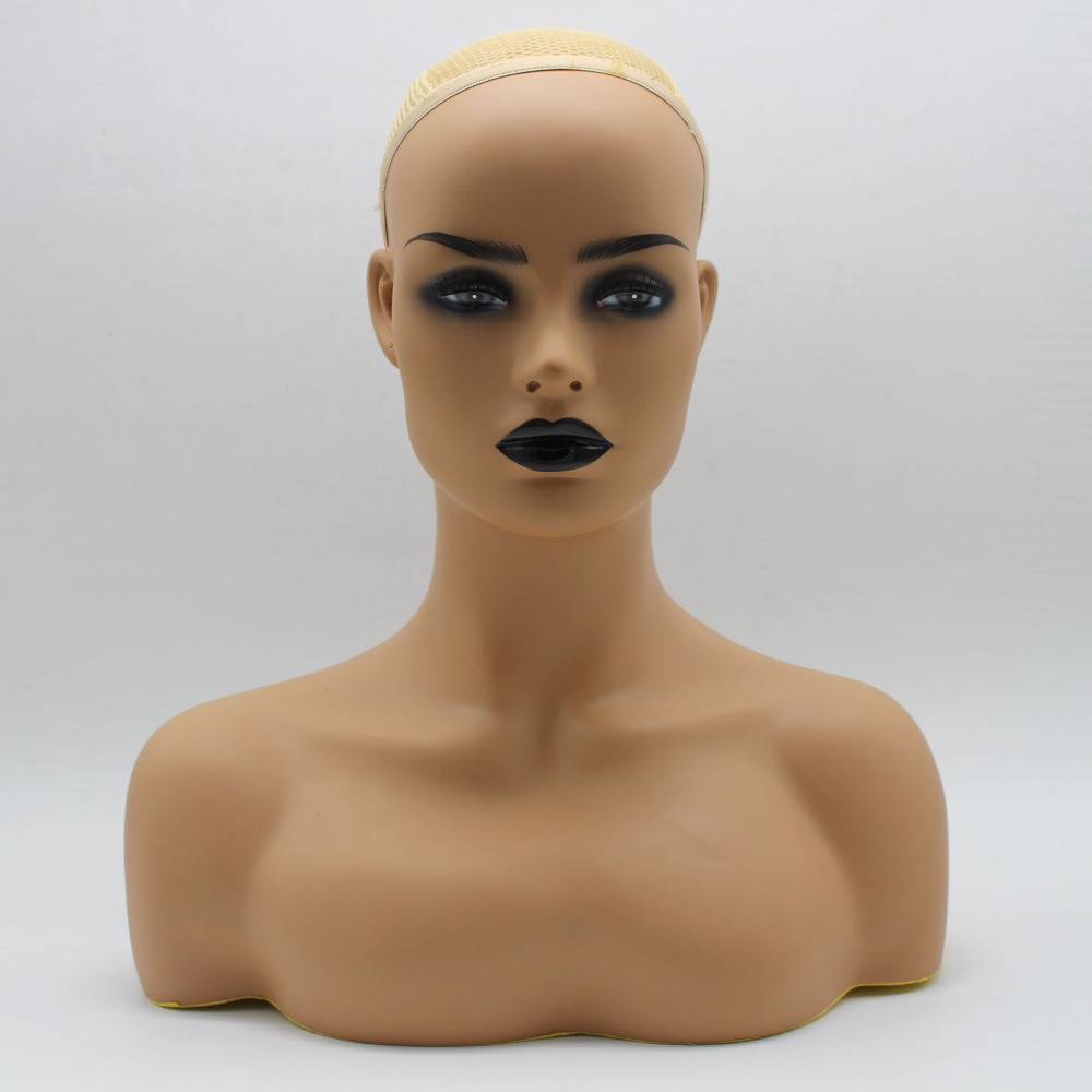 Female PVC Mannequin Head Bust Sale For Wig Jewelry And Hat Display