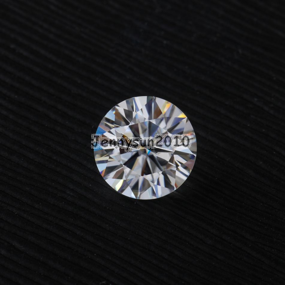 Brilliant Cut Round 1 Carat to 4 Carat Genuine Loose Moissanites EF 3mm to 10mm VVS1/2 Grade Gems Stone