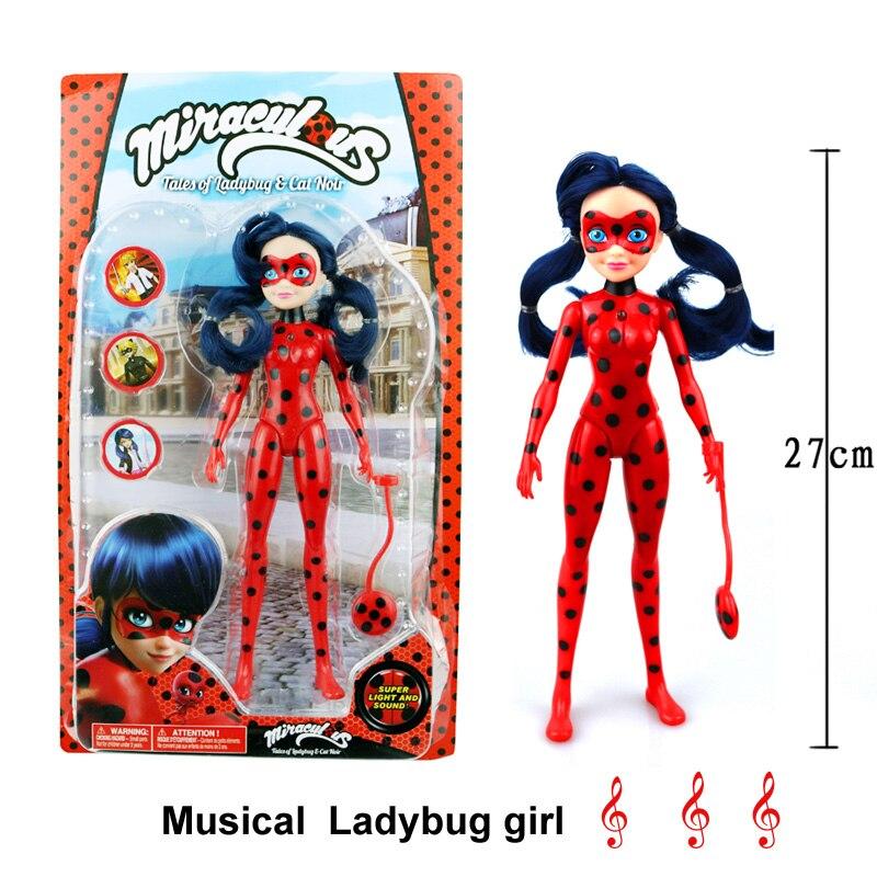 Чудесное Божья коровка кукла комиксов Lady bug девушка куклы подвижные суставы фигурку игрушки Симпатичные аниме игрушки для детей рождественские подарки