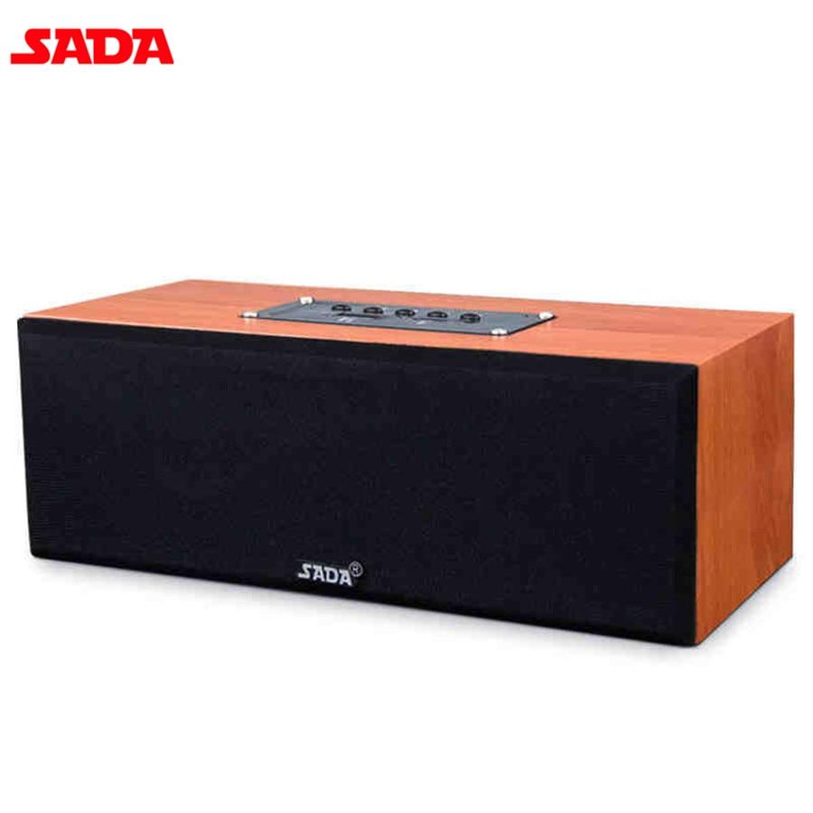 SADA Full Range Wooden Speaker Home Music Subwoofer Portable Bluetooth Wireless Speaker HIFI CH2.0 Loudspeaker