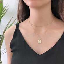 лучшая цена Silvology 925 Sterling Silver Double Layer Glossy Necklace Gold Round Bead Chain Elegant Pendant Necklace for Women Jewelry Gift