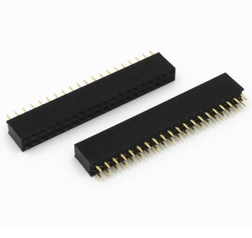 5 Pcs 2.54mm 2X20 40Pin Double Row Female Straight Header Pitch Socket Pin Strip