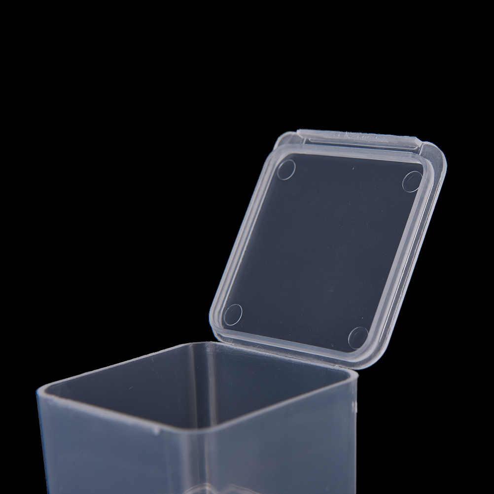 4x4x2.8 cm 투명 플라스틱 소형 카트리지 보관함 뚜껑 작은 액세서리 마무리 상자