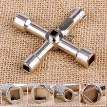 Многофункциональный 4 способа Универсальный треугольный ключ водопроводчик ключи треугольник для газовых электрических шкафов счетчики радиаторы
