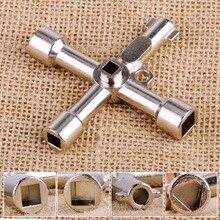 다기능 4 가지 방법 범용 삼각형 렌치 키 배관공 키 삼각형 가스 전기 미터 캐비닛 출혈 라디에이터