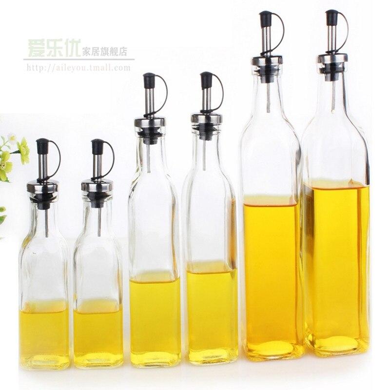 Kitchenware Gl Oil Vinegar Bottle Oiler Cruet Condiment Bottles Olive Square 280ml 1 Pc In Storage Jars From Home Garden On