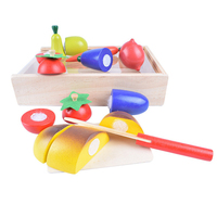 Children Role Play Wooden Kitchens Cutting Toys Food Cookware Vegetables Kitchenware Pretend Play Baby Dish Education Toys Kids