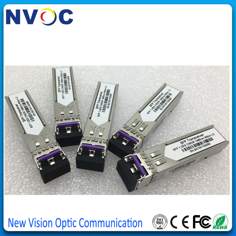 Zte 1.25g 80km Cwdm Lc 1490nm Sfp Transceiver Module With Custom Logo,compatible For Hua Wei Cisco Switch Superior In Responsible 5pcs/lot Quality