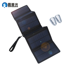 цена на Xinpugaung Solar Panel 10w 5v Foldable Portable Solar Charger Power Bank for Outdoor Charging Phone Tablet Camping Travel