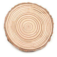 10pcs Dia 10-12cm Natural Round Wooden Slice Cup Mat Coaster Tea Coffee Mug Drinks Holder