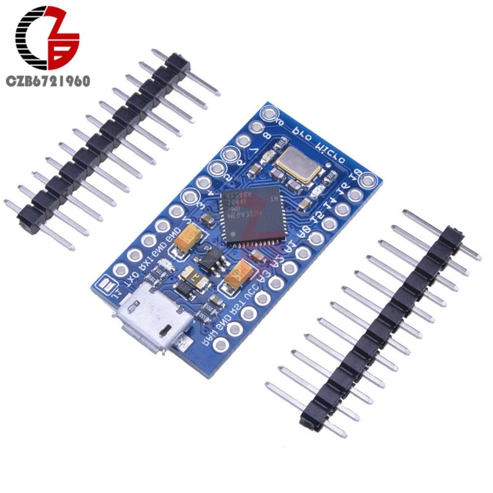 Micro USB ATmega32U4 Pro Micro 3.3V 8MHz Board Module For Arduino/Leonardo ATMega 32U4 Controller Pro-Micro Replace ATmega328 beetle usb atmega32u4 mini development board module for arduino leonardo r3