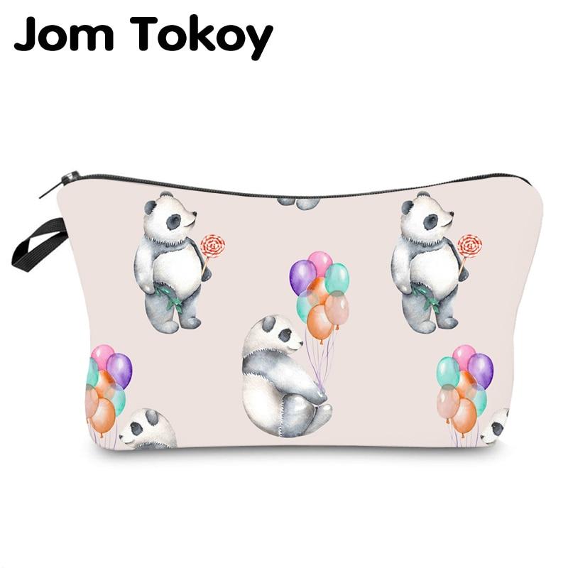 Jom Tokoy Water Resistant Cosmetic Organizer Bag Makeup Bag Printing Panda Cosmetic Bag Fashion Women Multifunction Beauty Bag