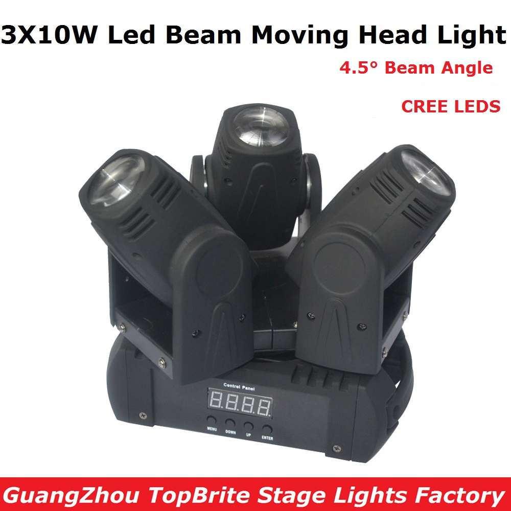 2017 Hot Sales Led Beam Moving Head Light 3 Heads 3X10W Mini Wash Spot Beam Stage Lights Party Wedding DJ Equipment Free Ship