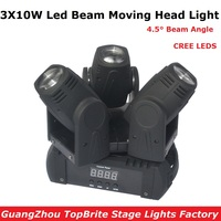 2017 Hot Sales Led Beam Moving Head Light 3 Heads 3X10W Mini Wash Spot Beam Stage Lights Party Wedding DJ Equipment Free Ship