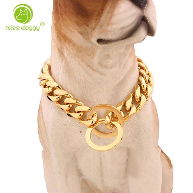 15 millimetri di Metallo Cani di Formazione Choke Catena Collari per Cani di Tag