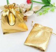 1000 unids 7*9 cm bolso de lazo bolsas de mujer de la vendimia de oro para La Boda/Fiesta/de La Joyería/de la Navidad/bolsa de Envasado Bolsa de regalo hecho a mano diy