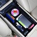 Organizador do carro apoio de Braço Central Acessórios Box Container Caixa de Armazenamento Bandeja Container Organizador Do Carro Atualização Acessório Do Carro Para Camry