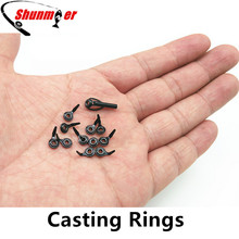 SHUNMIER 12pcs Micro Fishing Guide Rings Casting Ceramic Rod Rings for Repair DIY Repairing Rod Tips Carp Fishing Accessories