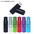 Fast speed Wansenda OTG USB Flash Drive 128gb 64gb Pendrive 32gb 16gb Pen Drive 8gb 4gb USB Flash USB 2.0 for Android Phones