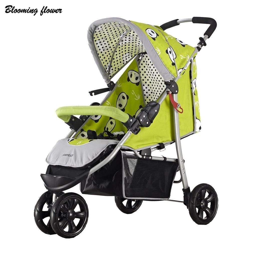 Детская коляска три больших резиновых колеса складная переносная легкая коляска с зонтиком навес 30 кг детская коляска новая горячая!
