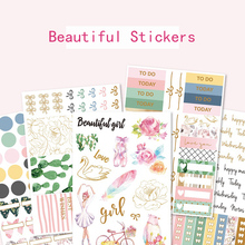 5pcs/lot Base Icon Practical Tag Functional Words Bronzing Decorative Sticker DIY Scrapbooking photo Label Diary Sticker Escolar цена