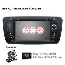 SMARTECH 2 Din Android 7.1.2 Auto DVD GPS navigation autoradio für Sitz Ibiza 2009 2010 2011 2012 2013 Quad Core 2 GB RAM 16 GB ROM