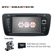 SMARTECH 2 Din Android 7.1.2 автомобиль радио dvd-плеер gps навигации для сиденья ibiza 4 ядра 2 ГБ Оперативная память 16 ГБ встроенная память с can-bus декодера