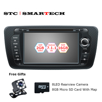 SMARTECH 2 Din Android 7 1 2 Car DVD GPS Navigation Autoradio For Seat Ibiza 2009
