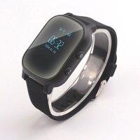 T58 Oled 스크린 블랙 스마트 GPS LBS 트래커 로케이터 전화 키즈 노인 어린이 학생 Smartwatch SOS 원격 모니터