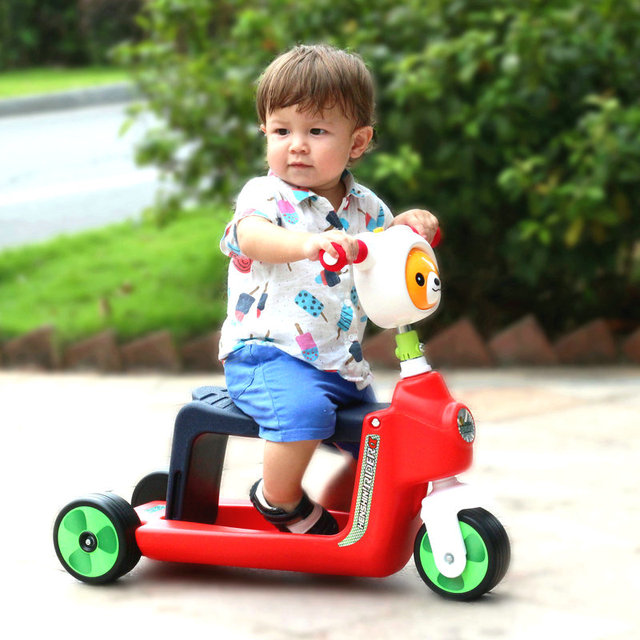 Crianças de scooter 3 roda de bicicleta de bebê pode sentar-se para montar o rolo é de 1 - 3 - 5 anos de idade brinquedo de criança