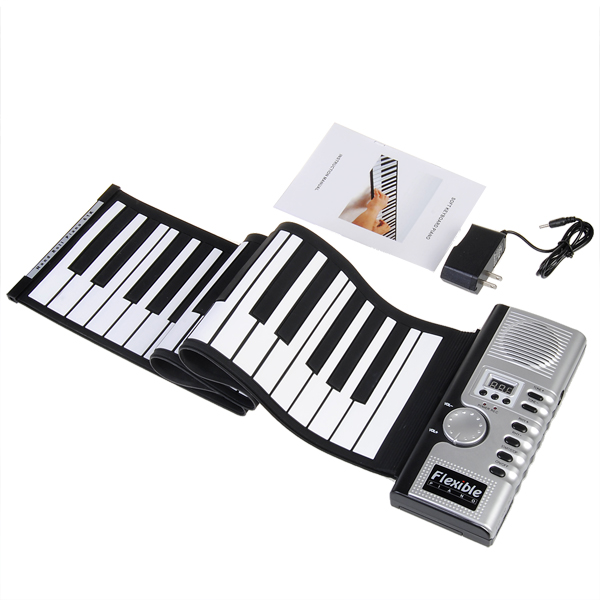 Zebra New Arrival 61 Keys Portable Soft Silicone Electronic Keyboard Piano Roll up Piano For Keyboard Instruments Lover Gift portable mini roll up soft silicone flexible electronic digital music keyboard piano with loud speaker for different children