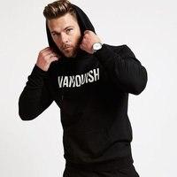 2017 Newest Men Cotton Hooded Sweatshirt Autumn Winter Fitness Workout Hoodies Casual Fashion Brand Sportswear Man