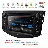 2Din 7 ''dvd плеер автомобиля для TOYOTA RAV4 2006 2007 2008 2009 2010 2011 с gps навигация BT радио FM/AM RDS Карты AutoAudio DAB +
