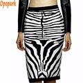 2016 женская мода зебра юбка белый черный повязки юбки сексуальная район хорошие эластичные весна лето зима партия высокая талия HL344