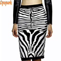 2016 women fashion zebra skirt white black bandage skirts sexy rayon good elastic spring summer winter party high waist HL344