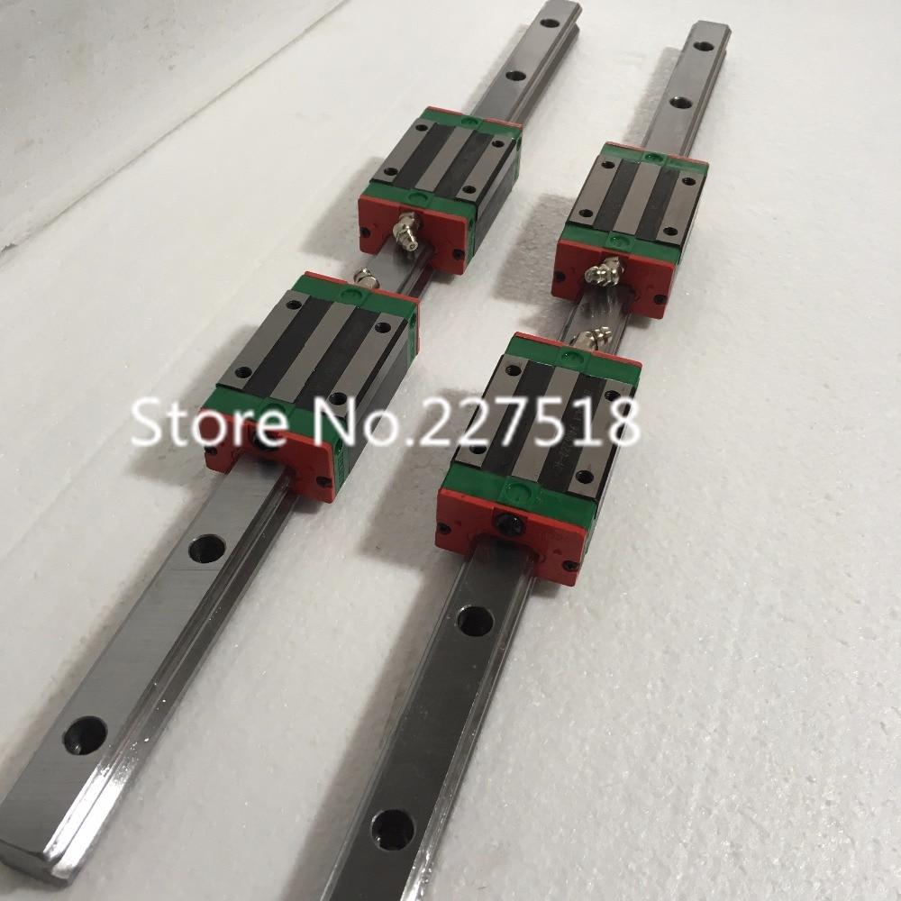 25mm Type 2pcs  HGR25 Linear Guide Rail L1000mm rail + 4pcs carriage Block HGH25CA blocks for cnc router tbi 2pcs trh25 1500mm linear guide rail 4pcs trh25fe linear block for cnc