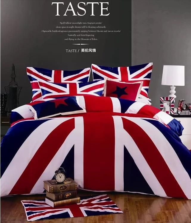 Letto Singolo In Inglese.Britannico Bandiera Inglese Set Biancheria Da Letto Queen Size