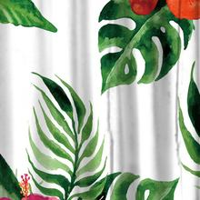 Tropical Flowers And Plants Printed Shower Curtains