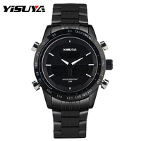 YISUYA Noctilucent Japan Movement Army Pilot Casual Aviator Water Resistant 3ATM Day Date Chronograph Hot Wrist