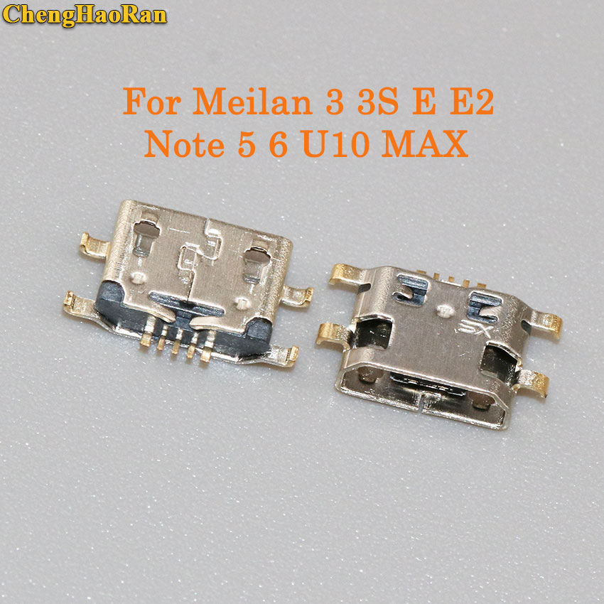 ChengHaoRan <font><b>5</b></font>-20pcs Micro USB <font><b>Jack</b></font> Connector Charging port socket female For Meizu Meilan <font><b>3</b></font> 3S M3 M3S E E2 Notes5/6 U10 MAX image
