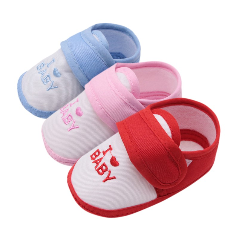 0-18M Newborn Baby Boys Girls First Walkers Shoes 3 Colors Fashion Letter Print Casual Shoes Baby Shoes Kids Toddler Shoes