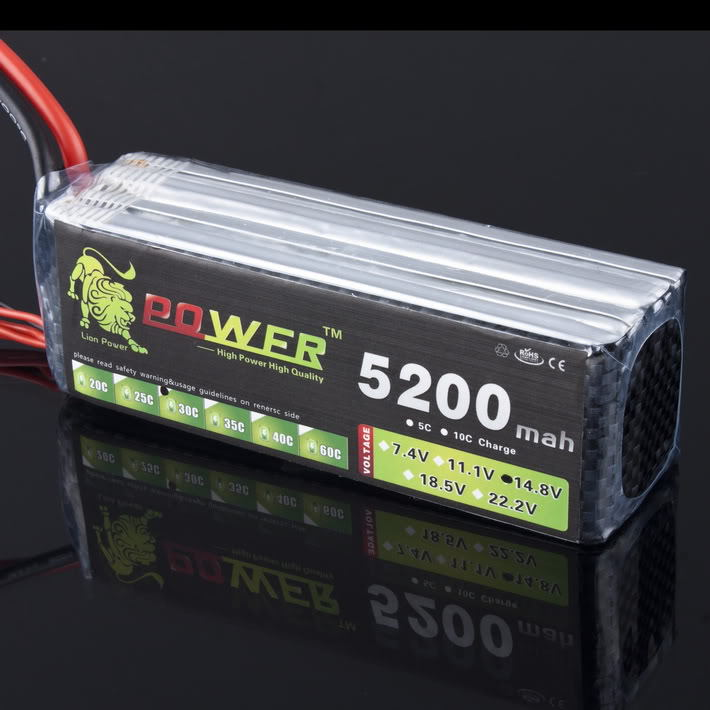 LION POWER Lipo Battery 14.8v 5200mAh 4S 30C Lipo Battery RC Helicopter RC Car Boat Quadcopter Remote Control Toys Parts