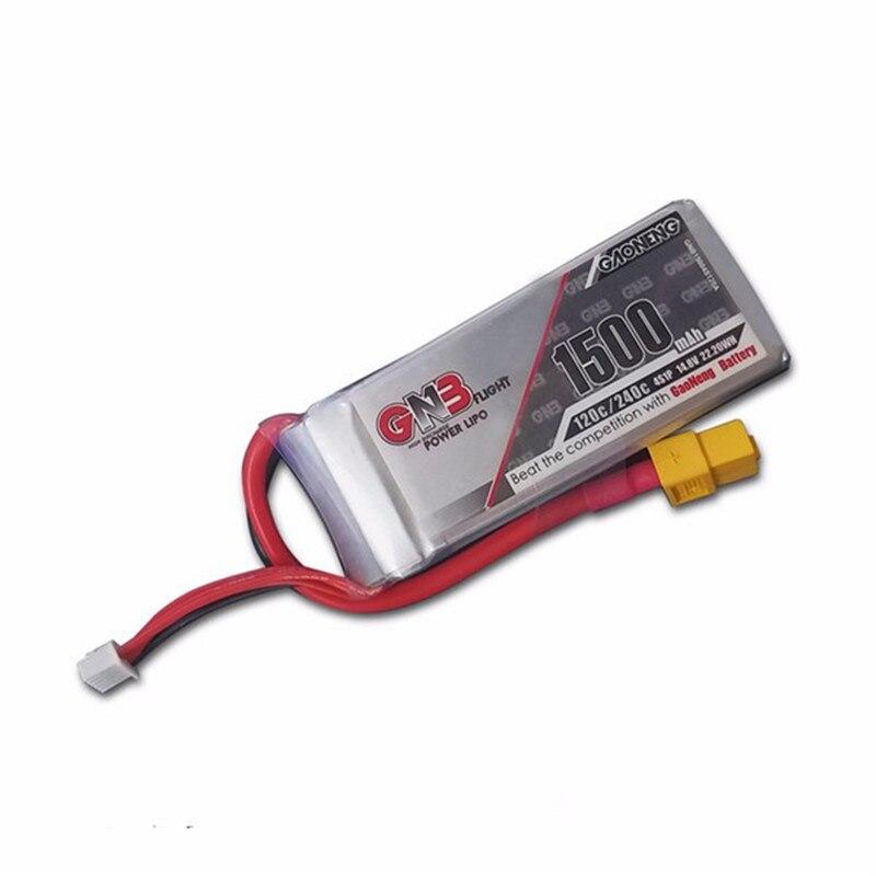 Batería recargable de lipo de la alta calidad gaoneng GNB 14.8 V 1500 mAh 4S 120c/240c Lipo para FPV Racing