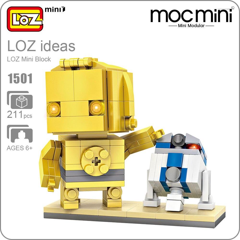 LOZ Mini Blocks Figure Assembly Toys For Children DIY Building Blocks Bricks Figurine Robot Assemble Models Educational 1501